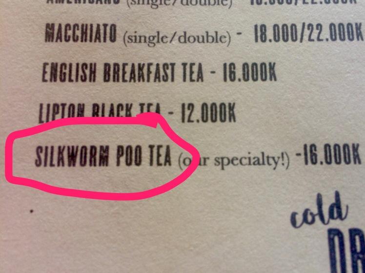 Silkworm Poo Tea