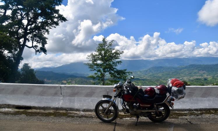 Bike over valley