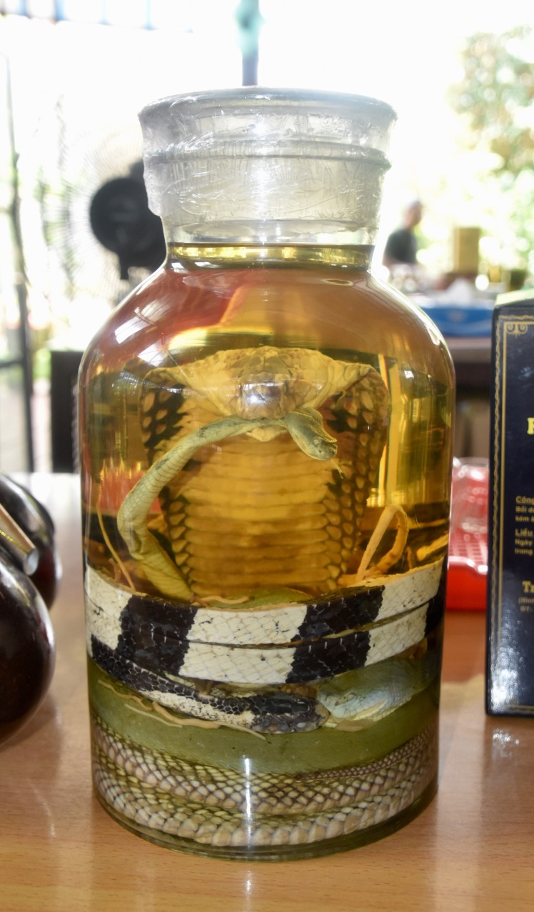 Rice Whiskey with Snake